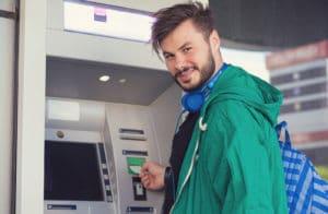 Happy Employee getting instant cash