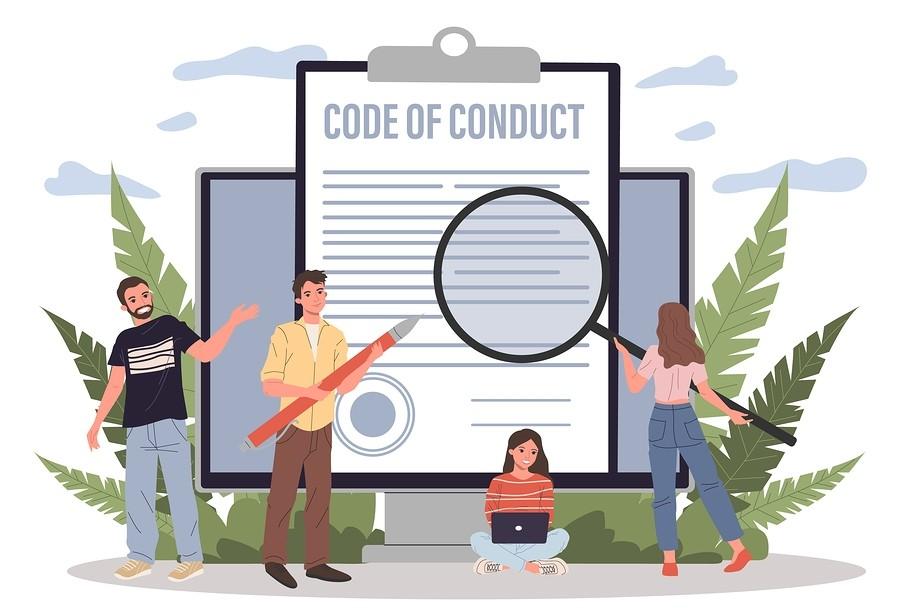 Code of Conduct illustrator design
