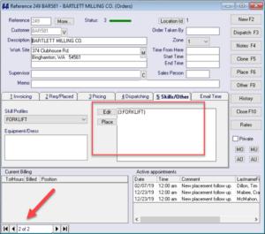 Matching Order - TempsPlus Software