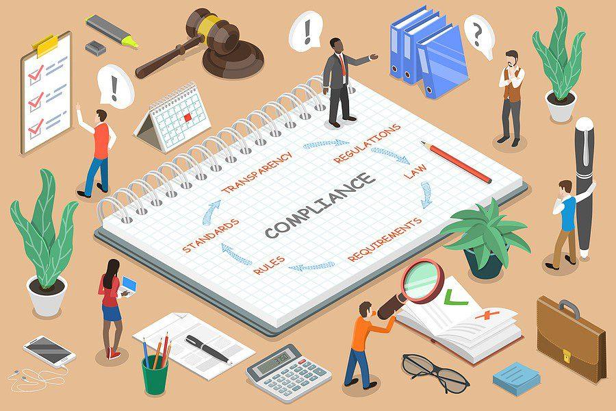 Regulatory Compliance Flat Isometric Vector Conceptual Illustrat